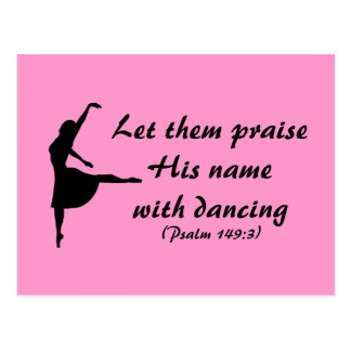 Praise Him with Dancing Postcard