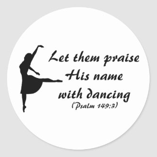 Praise Him with Dancing Stickers