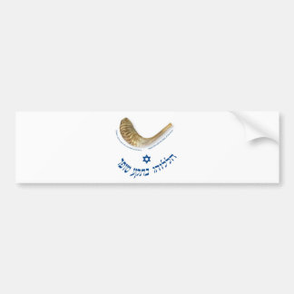 Praise Him with the blast of the horn - the shofar Car Bumper Sticker