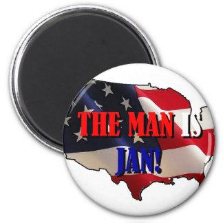Praise Jan 2 Inch Round Magnet
