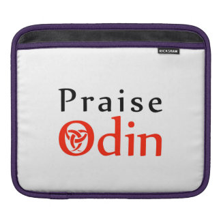 Praise Odin- The horns of odin iPad Sleeve