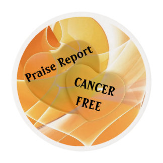 Praise Report - Cancer Free Edible Frosting Rounds