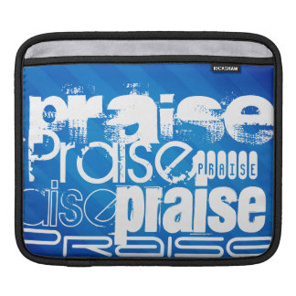 Praise; Royal Blue Stripes iPad Sleeves