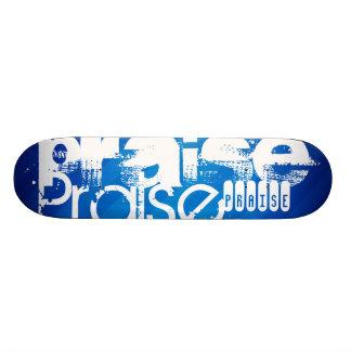 Praise; Royal Blue Stripes Skate Board Deck