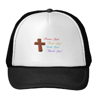 PRAISE SEEK TRUST THANK GOD TRUCKER HAT