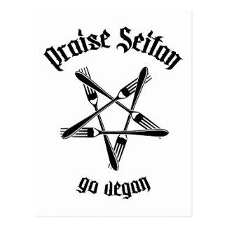 Praise Seitan 1.1 (black) Postcard