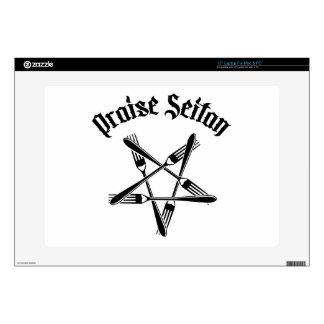 Praise Seitan 1.2 (black) Laptop Skins