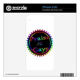 Praise the gays iPhone 4 skins