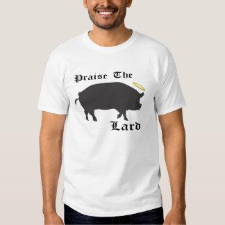 Praise the Lard, bacon, fat, pig, foodie, funny T-shirt