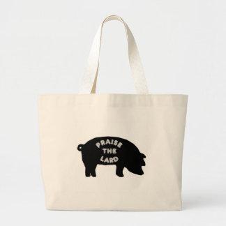 Praise the Lard Large Tote Bag