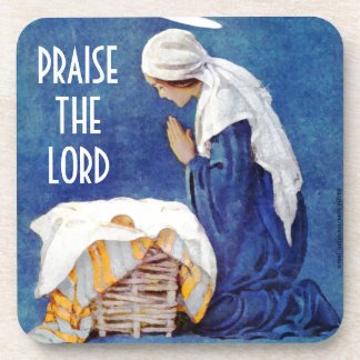 PRAISE THE LORD DRINK COASTER