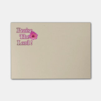 Praise The Lord Pink Dahlia Post-It Notes