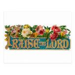 Praise the Lord Vintage Christian Postcard