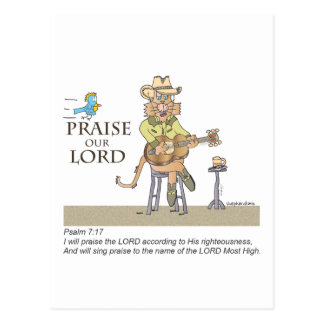 Praise the Lord with Country Postcard