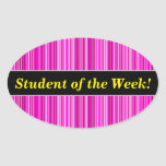 [ Thumbnail: Praise + Thin Magenta and Pink Stripes Pattern Sticker ]