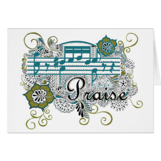 Praise with Musical Notes Cards