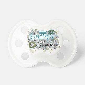 Praise with Musical Notes Pacifiers