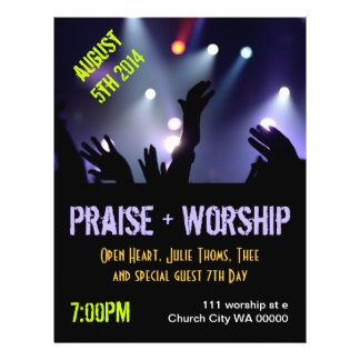 Praise Worship Flyer Invitation