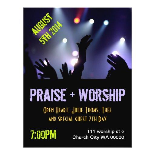 Praise Worship Flyer Invitation