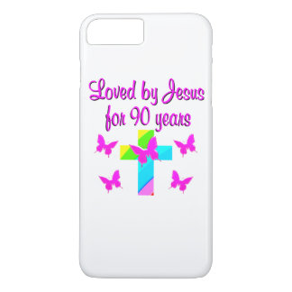 PRAISING GOD 90TH BIRTHDAY iPhone 8 PLUS/7 PLUS CASE