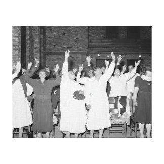Praising the Lord, 1941 Canvas Print
