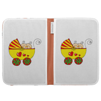 Pram & baby boy/girl twins case for kindle