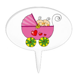 Twins Baby Shower Cake Toppers   Zazzle