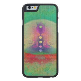 prana de la aureola de la ji de la energía de la funda de iPhone 6 carved® slim de arce