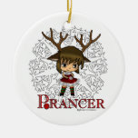 Prancer Double-Sided Ceramic Round Christmas Ornament