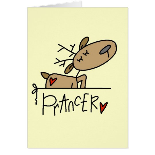 Prancer Reindeer Tshirts and Gifts Card