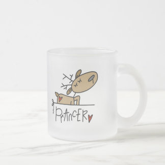 Prancer Reindeer Tshirts and Gifts Frosted Glass Coffee Mug