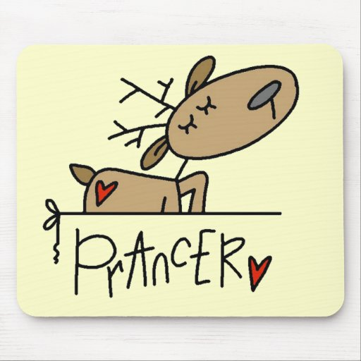 Prancer Reindeer Tshirts and Gifts Mouse Pad