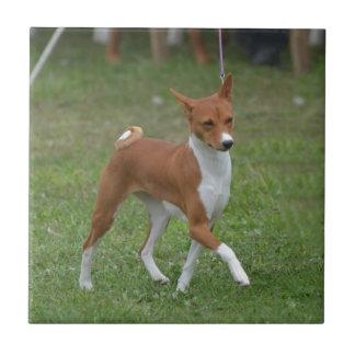 Prancing Basenji Dog Tile