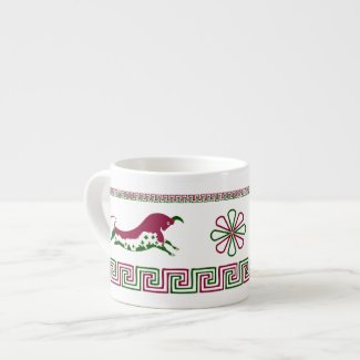 Prancing Bull, White Espresso Cup