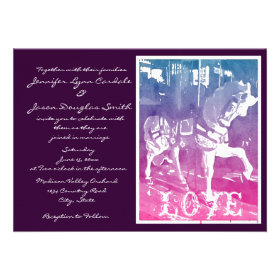 Prancing Carousel Horse Wedding Invitations