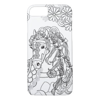 Prancing Daisy Horse Apple iPhone 7 Case