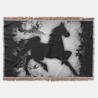  Prancing de la silueta del caballo del Manta