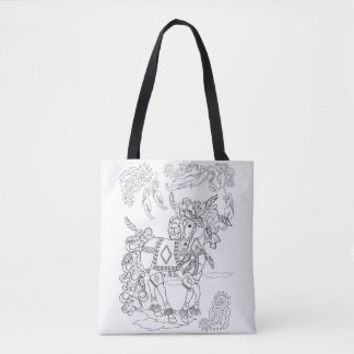 Prancing Feather Horse Tote Bag