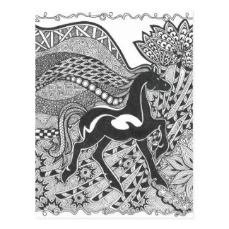 Prancing horse.jpg postcard