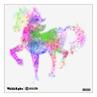 Prancing Horse  (with flame pattern) Wall Decals