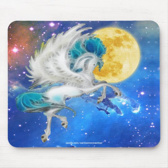Prancing Pegasus, Stars & Magic Moon Mouse Pad