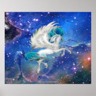 Prancing Pegasus & the Magic of the Universe Poster