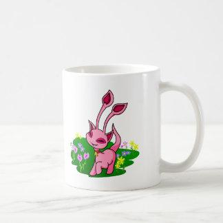 Prancing pink Aisha through flowers Coffee Mug