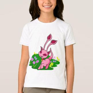 Prancing pink Aisha through flowers T-Shirt