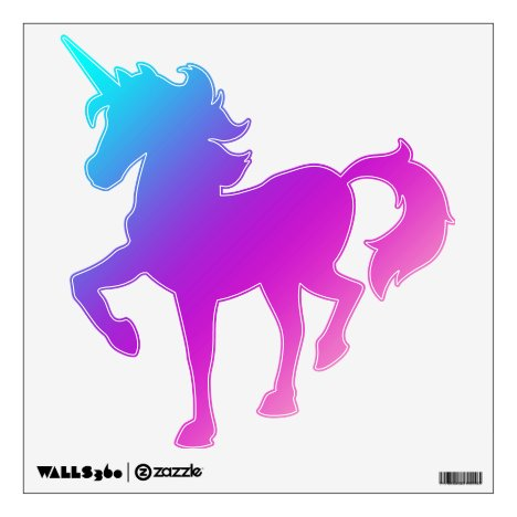Prancing Unicorn Decal - Blues, Purples, Pinks