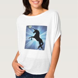 Prancing Unicorn Starburst Design T-Shirt