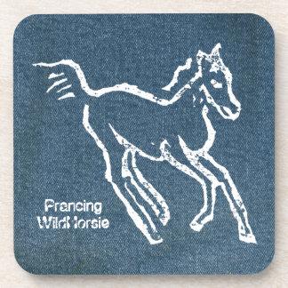Prancing Wild Horsie Beverage Coaster