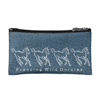 Prancing Wild Horsies small Makeup Bag