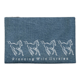 Prancing Wild Horsies Travel Accessory Bag