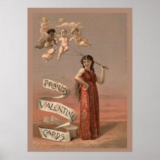 Prang's Valentine Cards Poster